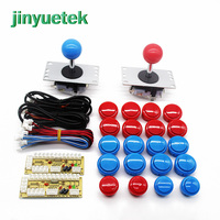 New Version diy arcade kit 2 player led raspberry maquina controle arcade 2 jugadores buttons usb joystick controller board