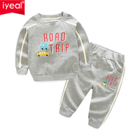 IYEAL 2019 New Autumn Winter Boy's Clothing Sets Sport Pullover Fashion Kid 2 Pieces Toddler Children Tracksuit Boy Clothes 2 8Y