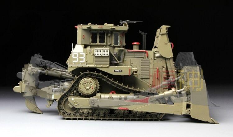 Assemblage civil militaire modèle de véhicule d'ingénierie 1/35 israël D9R ours en peluche Bulldozer blindé SS002