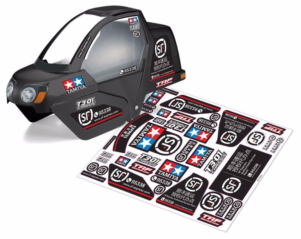 US $10 28 15% OFF|New 1/10 New Tamiya T3 01 Dacing Rider Sticker Shell Body  motor tricycle body 1pcs Without Body Only Sticker-in Parts & Accessories