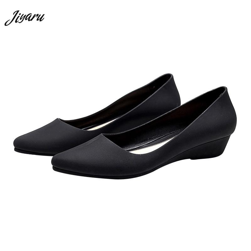Female Shoes Heels Sandals Simple Woman Wedges Pointed-Toe Girls Waterproof Casual Ladies