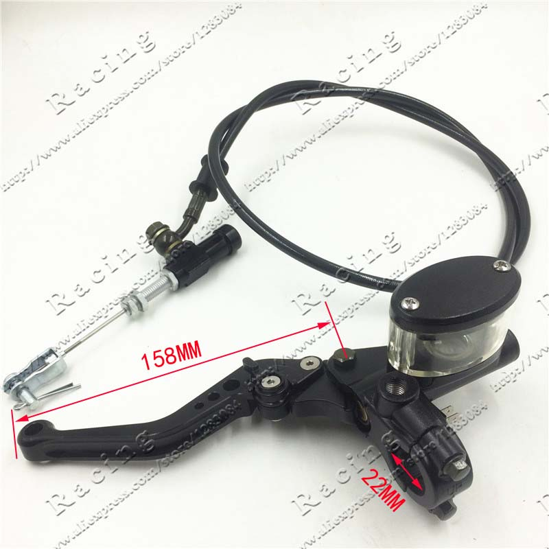 Hydraulic Clutch Lever master cycliner refitting bike pit pit basikal Motocross motorcycle with cermin mounts black
