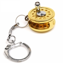 1 Piece Fishing Reel Mini Gift Gold Plated Drum Fly Wheel mo