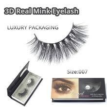 Charming Lashes 3D Mink Fur Fake Eyelashes Womens Makeup False Hand-made Style 1 Pair Packag Free Shipping