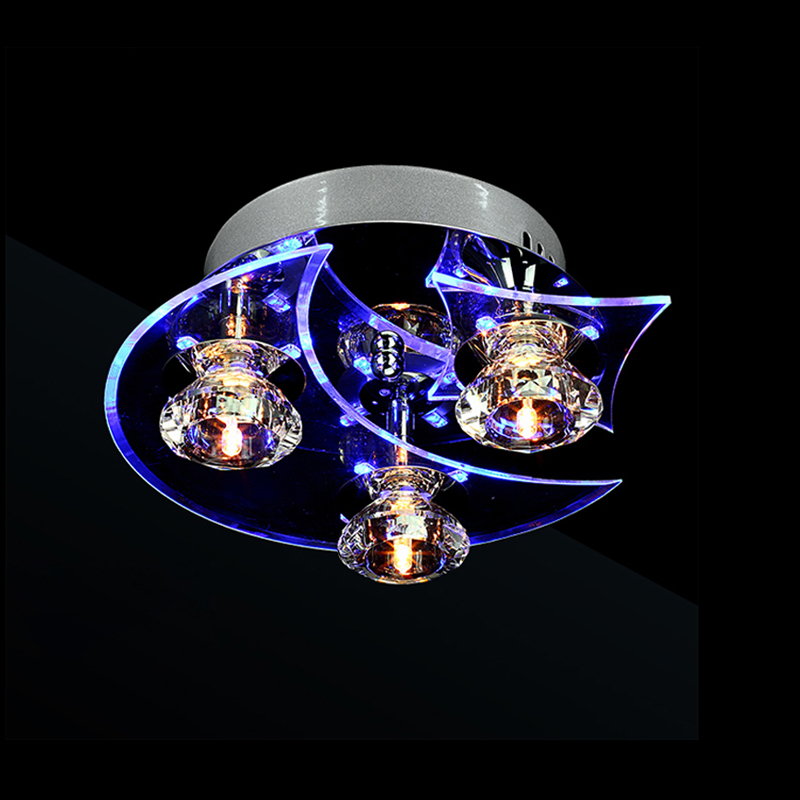 Free Shipping Modern Ceiling Light G4 3 Light Bulbs Included Crystal Acrylic Metal Flush Mount Lamp for Living Bed Room 9 inches