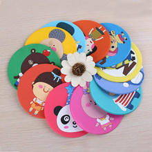 1pcs Cute Anime Silicone Coffee Placemat Cartoon Drink Coaster Cup Glass Beverage Holder Pad Mat dining table decoration(China)