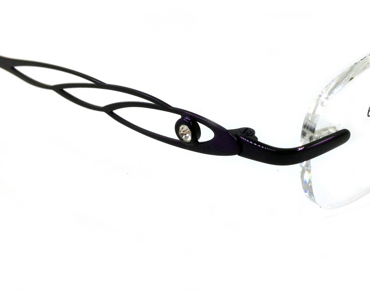 Titanium Memory Flexible Rimless Glasses Frame Women (5)