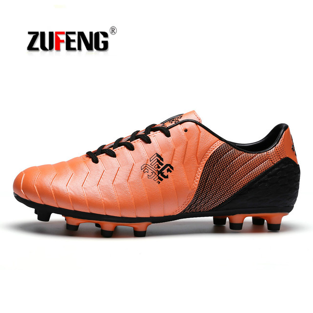 06718ffff ZUFENG TF Football Soccer Shoes Men New 2017 FG High Ankle Indoor Soccer  Cleats Turf Superfly Futbol Sport Shoes Sneakers