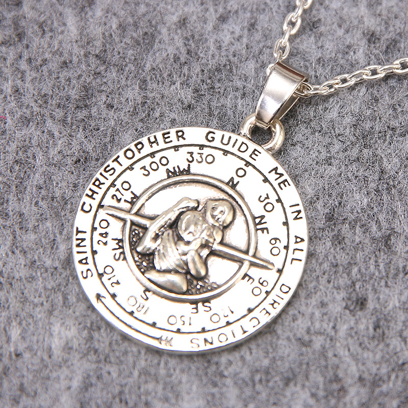 Freeshipping saint christopher pendant necklace 20pcslot fashion freeshipping saint christopher pendant necklace 20pcslot fashion necklace in pendant necklaces from jewelry accessories on aliexpress alibaba group mozeypictures Gallery
