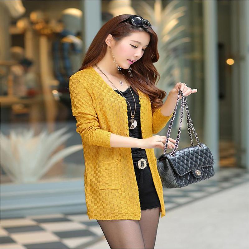 Aliexpress.com : Buy Fashion Women Sweater Long Cardigan Long ...