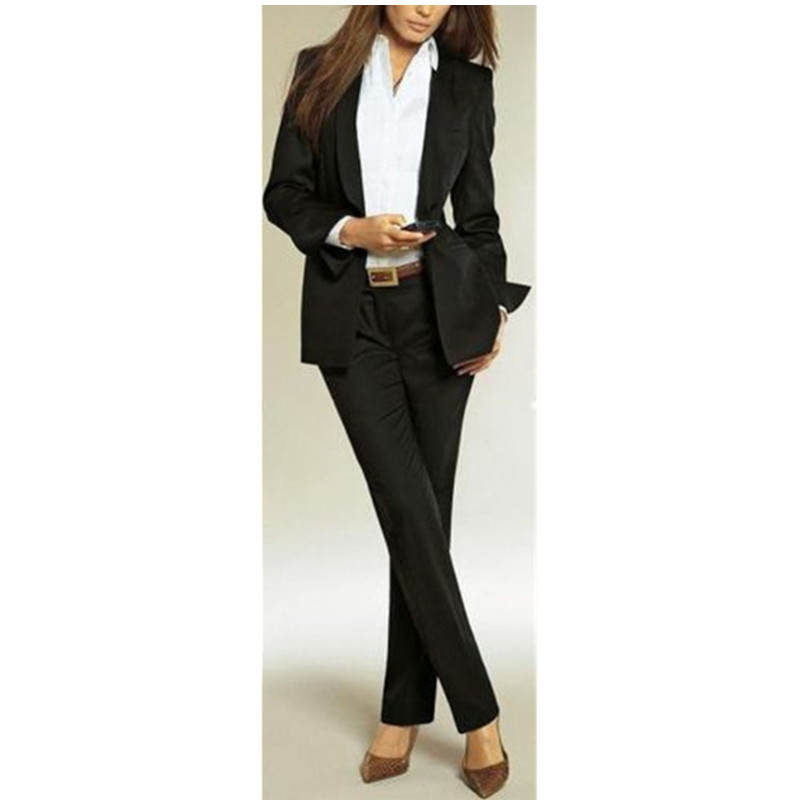 40 2017 Women Evening Pant Suits New Female Pants Suit Women Ladies Custom Made Office Business Tuxedos Formal Work Wear Suits