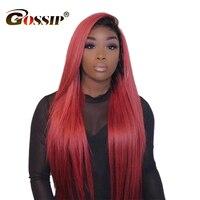 99J Омбре парик фронта шнурка бразильские прямые кружева передние человеческие волосы парики для женщин бордовый Реми Омбре человеческие во