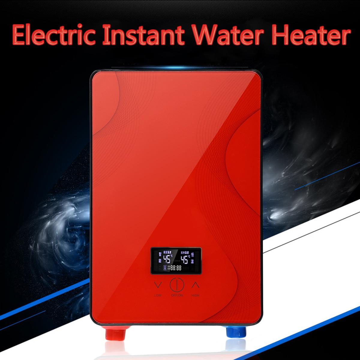 Riscaldatore di acqua Tankless Caldaia Bagno Doccia Set 6500 w 220 v Elettrico Istantaneo Caldo di Sicurezza Intelligente Automaticamente In Vetro Temperato