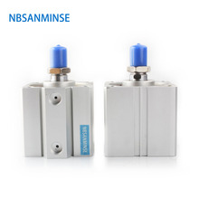 NBSANMINSE SDA 63mm Bore With Magnet Compact Cylinder AirTAC Type Double Acting Cylinder Pneumatic Parts Machine стоимость