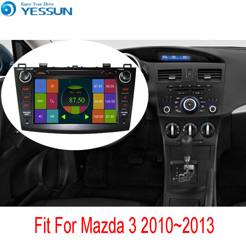 YESSUN For Mazda 3 BL 2008~2013 Car DVD Player Wince Android System Autoradio Radio Stereo GPS Navigation Multimedia Audio Video yessun for mazda cx 5 2017 2018 android car navigation gps hd touch screen audio video radio stereo multimedia player no cd dvd