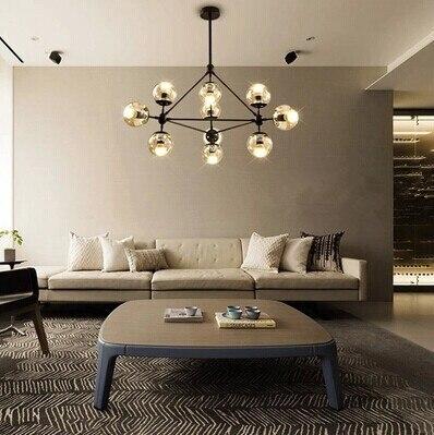 creative home lighting. 10 lights modern minimalist creative dna molecular led pendant for bar home lighting plated bulb u