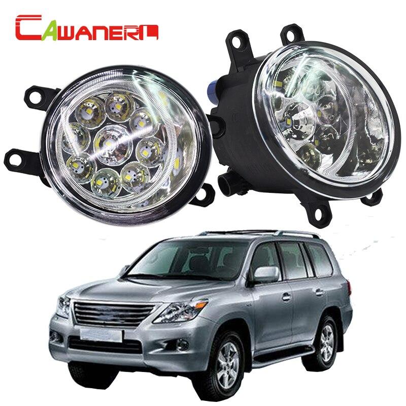 Cawanerl 2 X Car LED Light Left + Right Fog Light Daytime Running Light DRL High Power For Lexus LX 570 LX570 5.7L V8 2008-2013