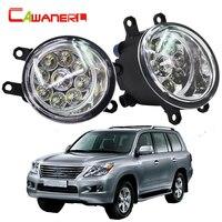 Cawanerl 2X Car LED Light Left Right Fog Light Daytime Running Light DRL High Power For