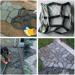 43x43cm Driveway Paving Brick Patio Concrete Slabs Path Pathmate Garden Fence Walk Maker Mould Garde Path Maker Mold