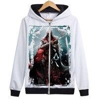 Assassins Creed костюм Assassins Creed куртка Unity Арно белый худи на молнии 21 стилей Сменные патчи в магазине