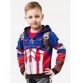 2016 Niños Ropa de Abrigo Niños Niñas Escudo Vengadores Y Iron Man Cartoon Casual Outwear Chaquetas Sudaderas Con Capucha Ropa de Niños Bebé