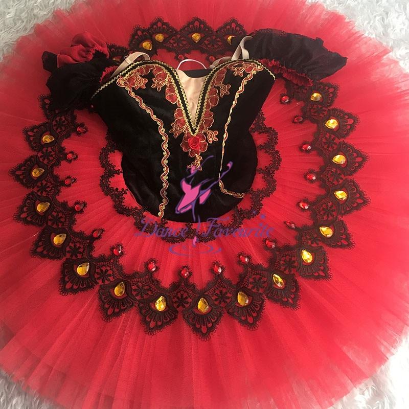 Dance Favourite black tutu Women & Girl Performance Customer Size Made Ballet Tutu Ballerina Dance tutu Classical pancake tutu
