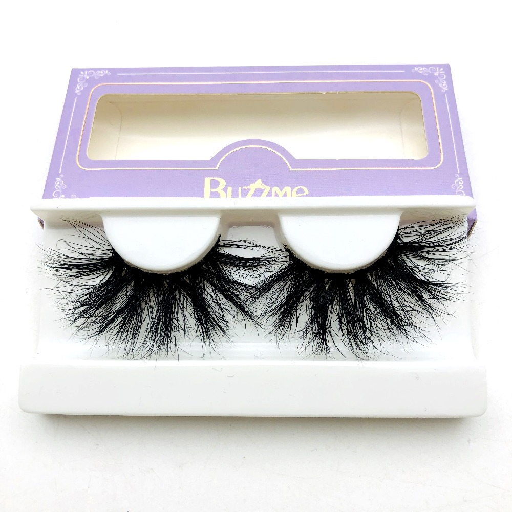 High Quality 3D Real Mink 25mm Lashes Luxury Mink Strip Custom Packaging Paper Box(China)