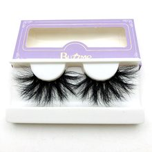 26a4c935322 High quality 3D real mink 25mm lashes luxury mink strip custom packaging  paper box(China