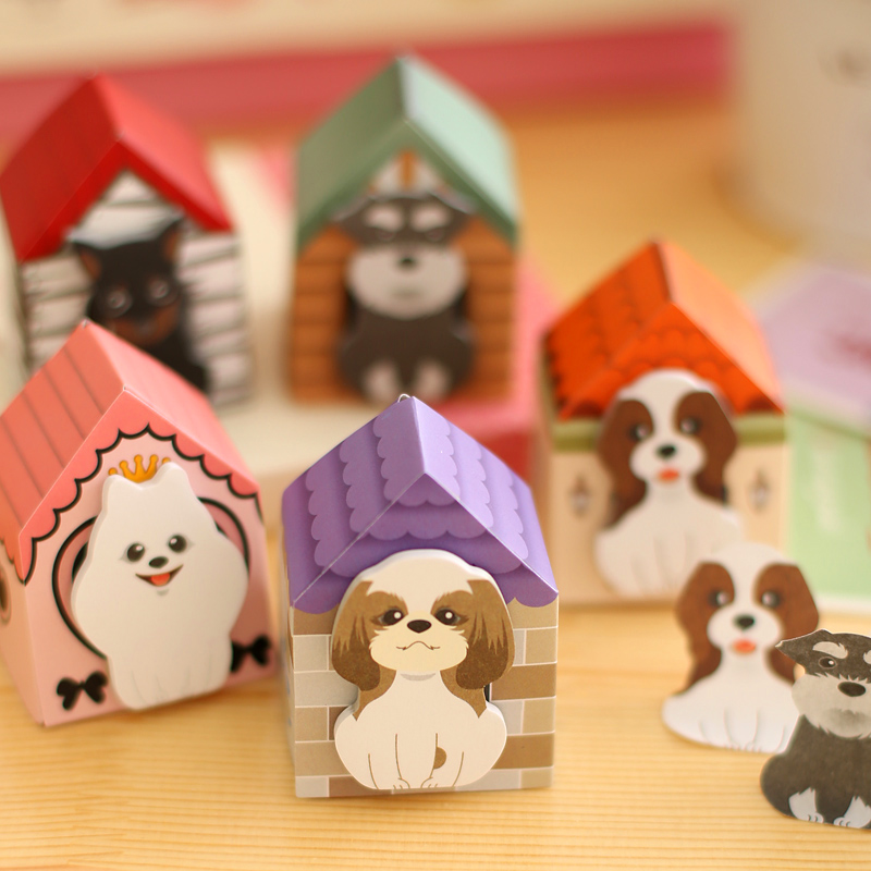 5X Puppy Dog & Cat Memo Pads Sticky Notes Sticker Marcador escolar - Blocs de notas y cuadernos
