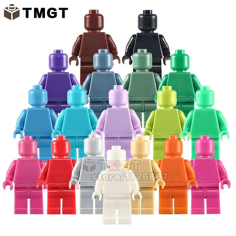 50 ピース/ロット卸売ブランクされていない s 多色肌色限定用品ビルディングブロックおもちゃ子供のため  グループ上の おもちゃ & ホビー からの ブロック の中 1
