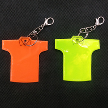 T shirt Reflective pendant student school bag accessories,Reflective keychain keyrings for visible safety(China)