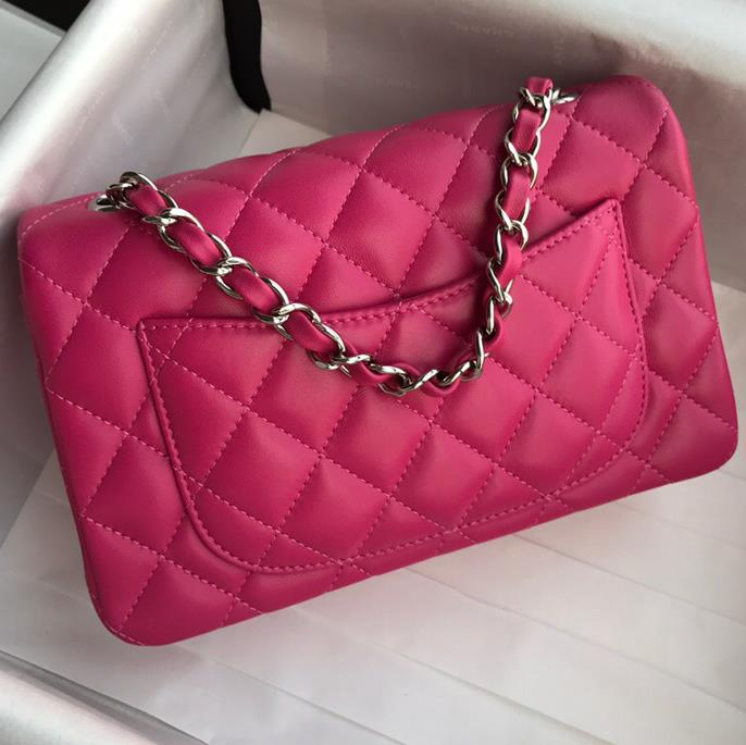 Free shipping best quality CF20CM lambskin bag  sheepskin rhombus Plaid chain bag women mini Inclined shoulder bag