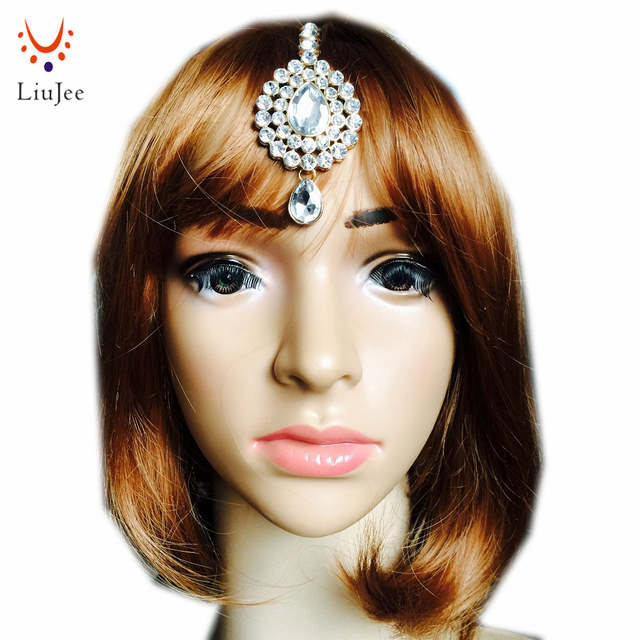 Us 3 99 Handmade Maang Tikka Indian India Mughal Stan Traditional Jewelry Bindis Ethnic Forehead Headpiece Kd013 In Hair