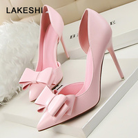 New Fashion Women Pumps Thin High Heels Women Shoes Hollow Pointed Toes Spring Sweet High Heels
