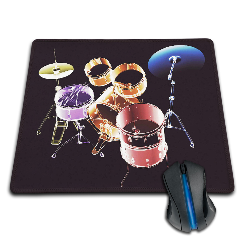 Babaite Mousepad Boy Gift Pad To Love Music Drum Set Cool Gaming Mouse Mat Computer Mouse Pad Non-Skid Babaite Pad to Mouse