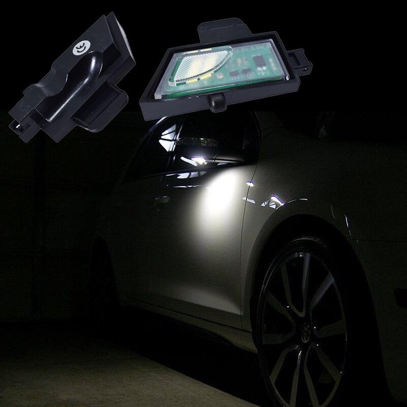 2x Pour Volkswagen GOLF 7 LED Sous Miroir Flaque Lumière VW Arrière led miroir Lampe de voiture Super Lumineux 6000 k