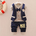 new spring/autumn baby boy clothing sets children clothes set Kids gentleman suit child long sleeve shirt + trousers