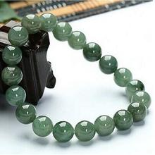 Chinese 100% Natural Hetian Nephrite Jade Bangle Bead Bracelet 16MM