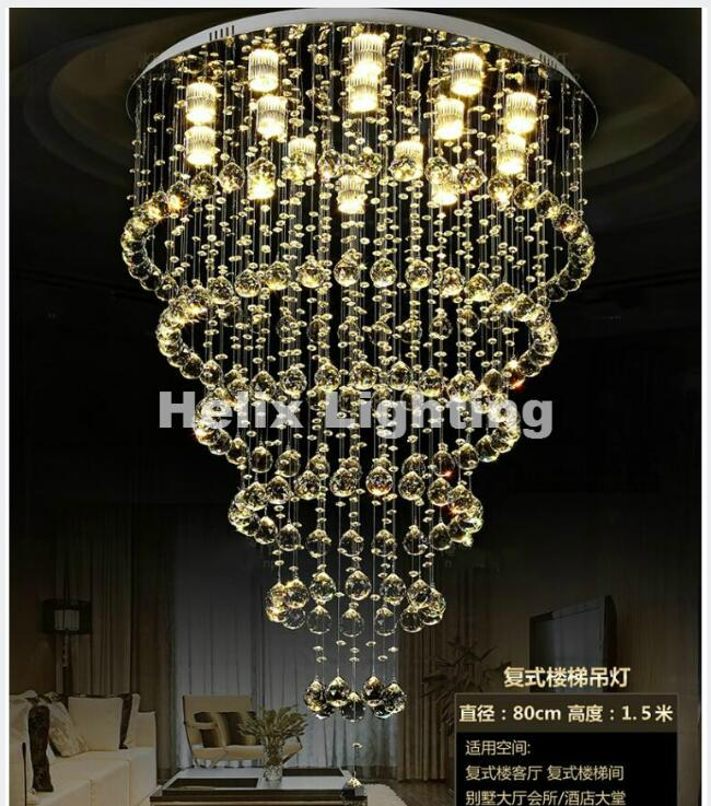 Free Shipping Crystal Light Pendant Lamp Crystal Lighting Fixtures Luminiare Modern Fixture Crystal Pendant Ceiling Lamp Luster luxury big crystal modern ceiling light lamp lighting fixture