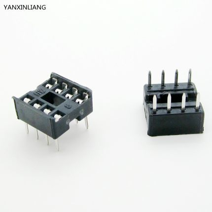 60PCS/Lot 8 Pin DIP Square Hole IC Sockets Adapter 8Pin Pitch 2.54mm Connector 20pcs lot ka331 dip 8