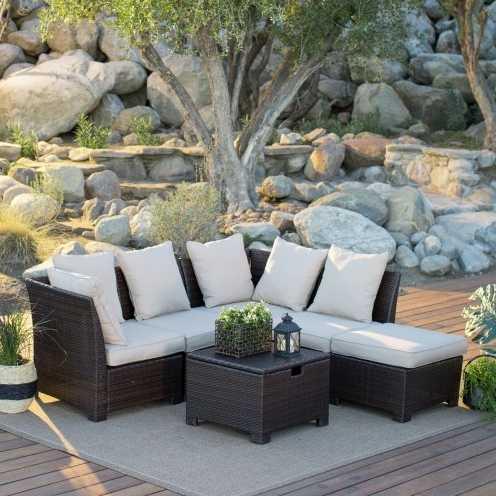 Stupendous Hot Sale Quality Garden Furniture Small Sofa Rattan Corner Sofa Set Pabps2019 Chair Design Images Pabps2019Com