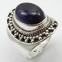 Amethysts Ring Size 9 Fancy Women Jewelery Pure Silver Unique Designed