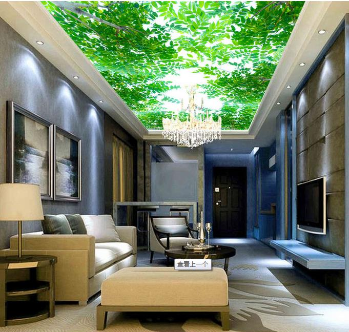 living forest bedroom theme ceiling sky mural dimensional murals 3d shipping under wall