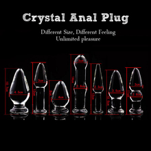 NEW 7Pcs/lot Pyrex Glass Butt Anal Plug Smart Bead Crystal Dildo Anal Plug Sex Toys for Gay Male Masturbation Adult Sex Products
