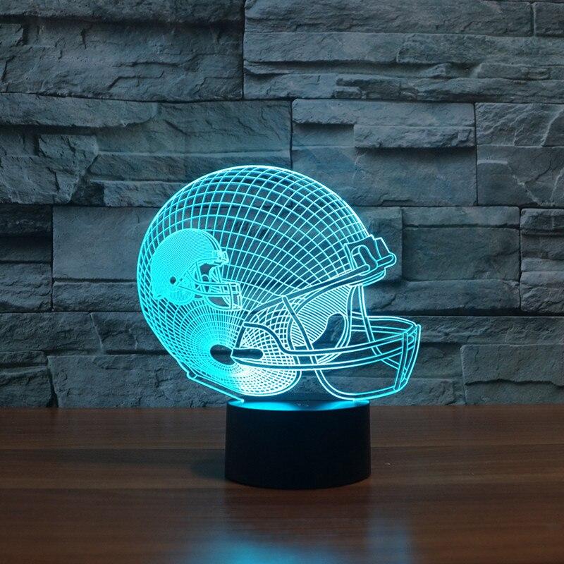 Cleveland Brown American football team logo on helmet 3D led Night Light