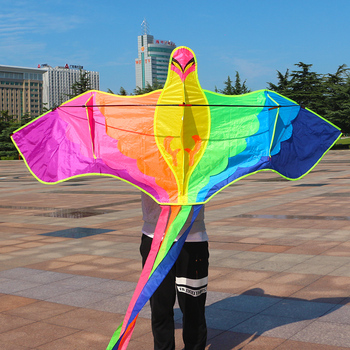 free shipping high quality large bird kites fabric nylon eco-freindly with kite control bar line flying outdoor toys factory free shipping high quality 2m large rainbow delta kites children kites with handle line kite flying toys bird kite factory