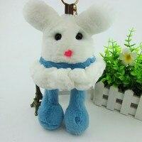 100 Rabbit Fur Pendant Super Cute Elf Bag Car Key Ring Key Chain Cell Phone Accessories