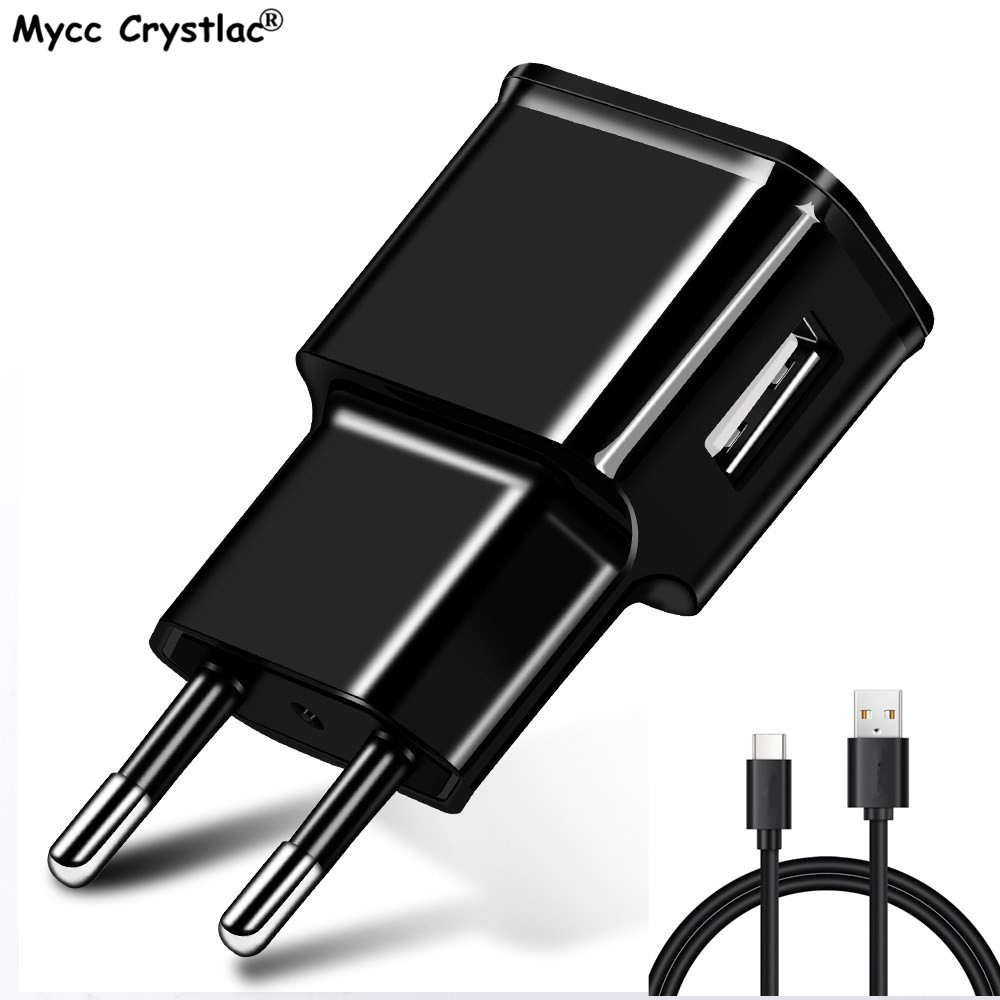 USB Charger 5V 2A EU Plug adapter Wall Mobile Phone Charger Portable Charge USB Type C Cable For Samsung Xiaomi Charging Tablet
