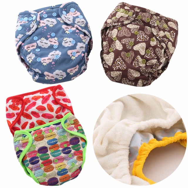 JinoBaby Bamboo Cloth Diapers Double Leakproof Design One Size Reusable Baby Diapers (with 1PCS Bamboo Insert)