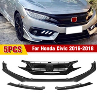 for Honda for Civic 2016 2018 Front Bumper Lip Spoiler